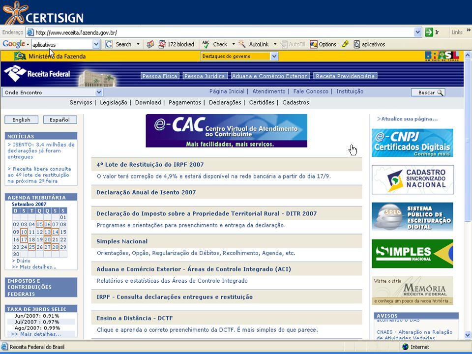 w w w. I d e n t i d a d e d i g i t a l. c o m. b r http://www.receita.fazenda.gov.br/