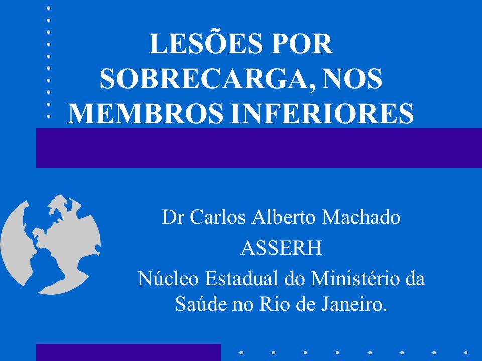 LESÕES POR SOBRECARGA, NOS MEMBROS INFERIORES Dr Carlos Alberto Machado ASSERH Núcleo Estadual do Ministério da Saúde no Rio de Janeiro.