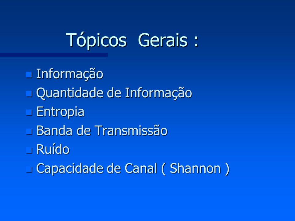 +i -i t t I TRANSMISSÃO TELEGRÁFICA LINHA = canal Teleimpressor: terminal bateria 1 0 a Variação de corrente ideal real a = 01011