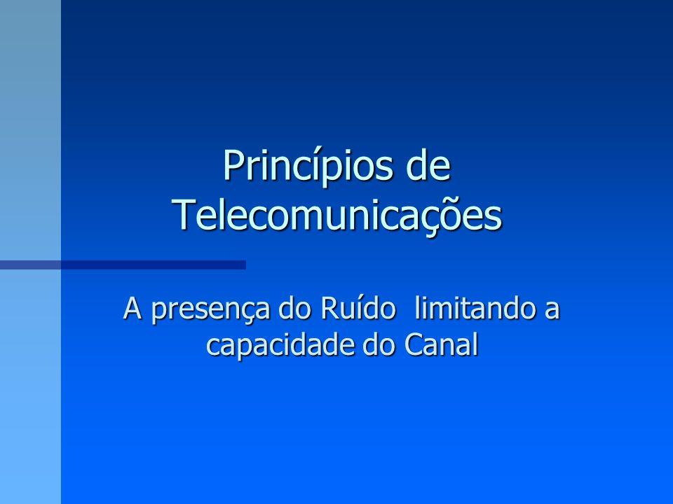 Princípios de Telecomunicações A presença do Ruído limitando a capacidade do Canal