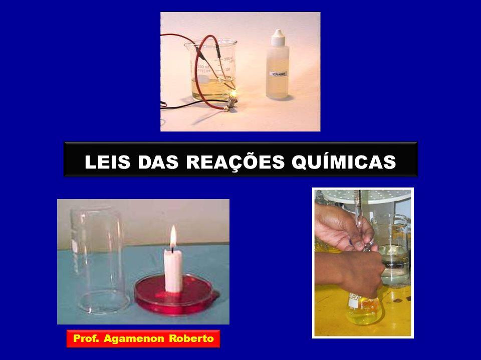 As leis das reações químicas podem ser divididas em dois grupos: LEIS PONDERAIS LEIS VOLUMÉTRICAS São as leis relativas às massas das substâncias que participam das reações químicas São as leis relativas aos volumes das substâncias que participam das reações químicas Prof.