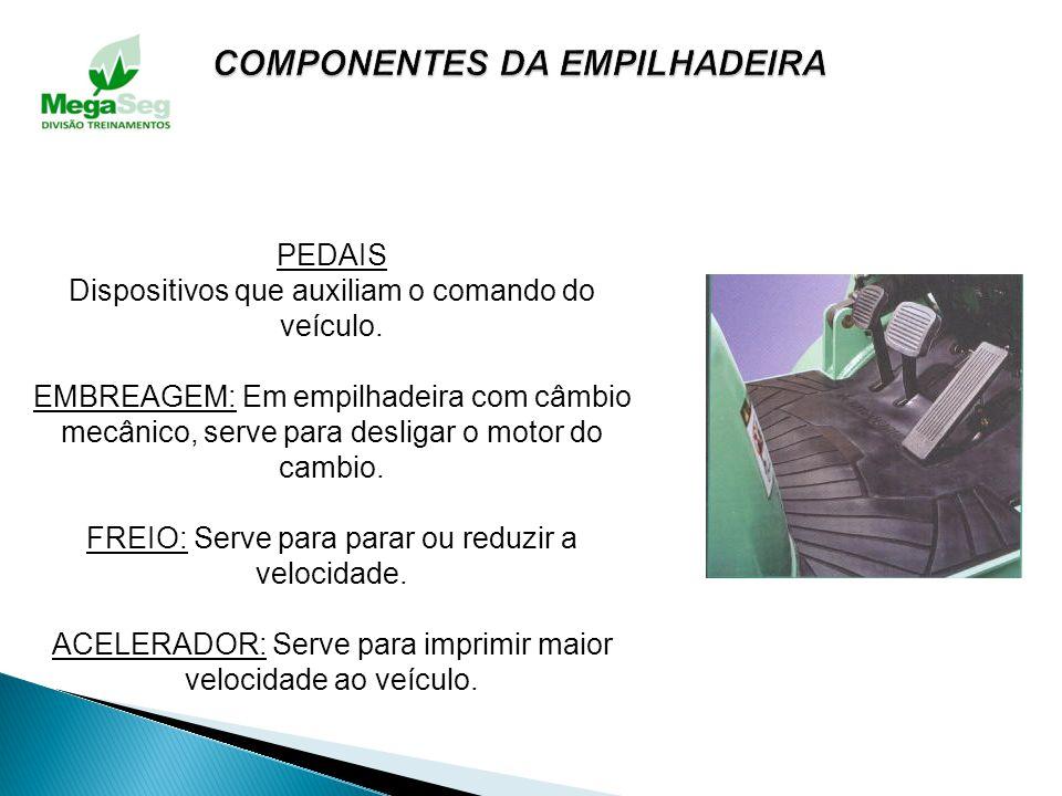TORRE DE ELEVAÇÃO Dispositivo utilizado na sustentação dos acessórios de movimentação de materiais. Movimentando-se no sentido vertical, inclinado-se