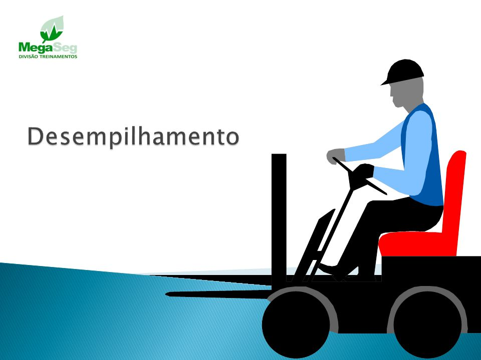 Aproxime-se da pilha com a carga abaixada e inclinada para trás; Reduzir a velocidade e parar na frente da pilha, brecar e diminuir a inclinação para
