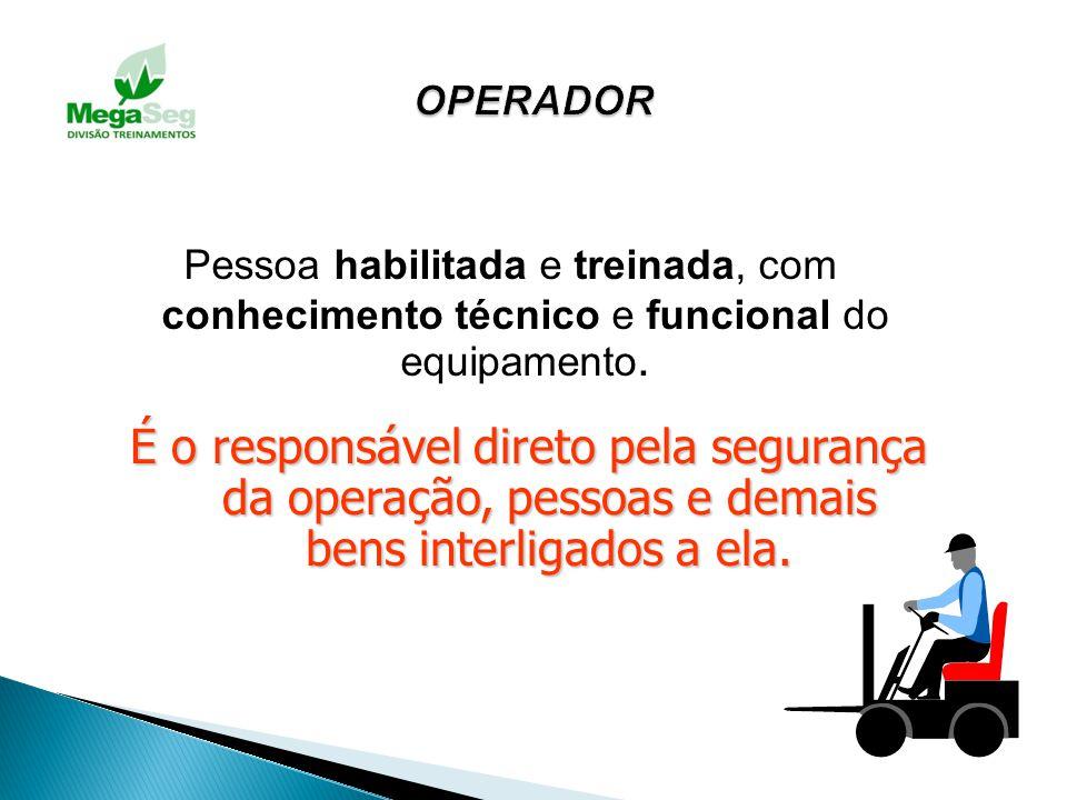 11.1.5.Nos equipamentos de transporte, com força motriz própria, o operador deverá receber um treinamento específico, dado pela empresa, que o habilit