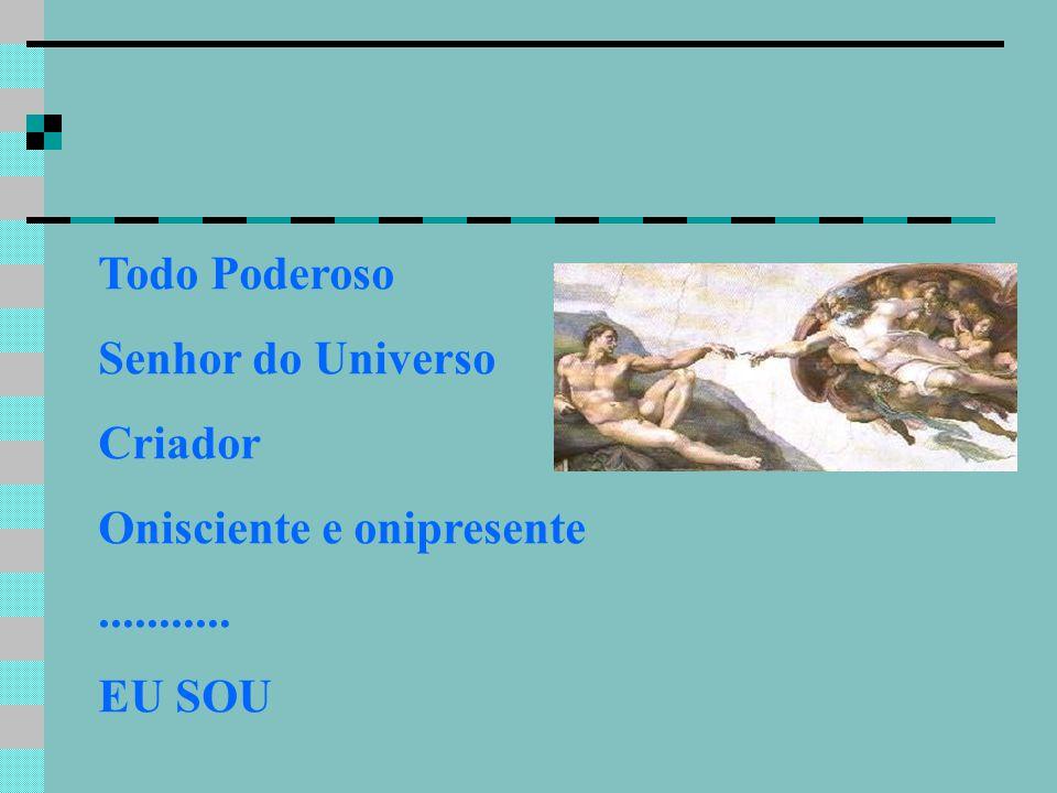 Todo Poderoso Senhor do Universo Criador Onisciente e onipresente........... EU SOU