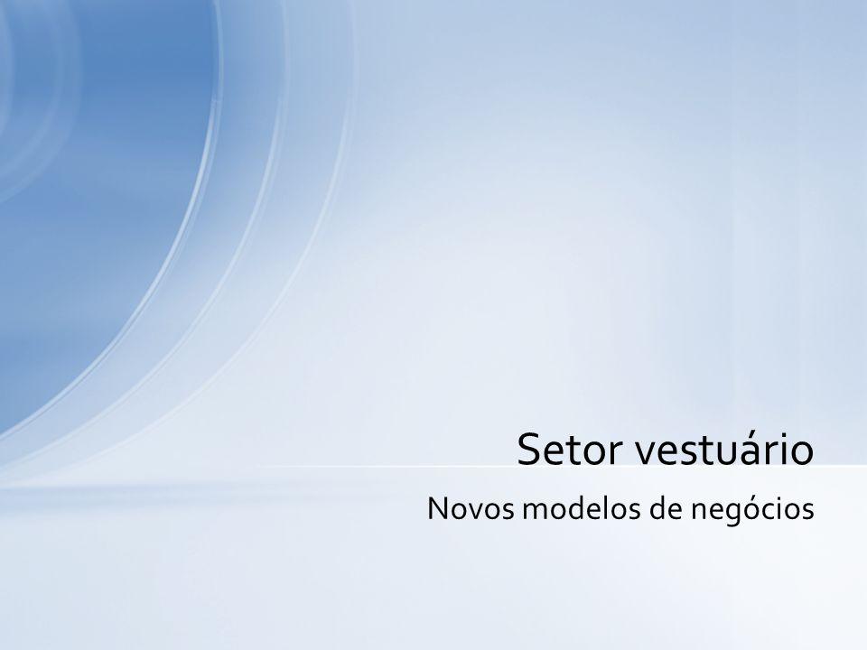 Cenário Global Participações regionais no comércio mundial de roupas Fonte: Calculado de OMC, 2004 Word the Report: Gráfico IV.12