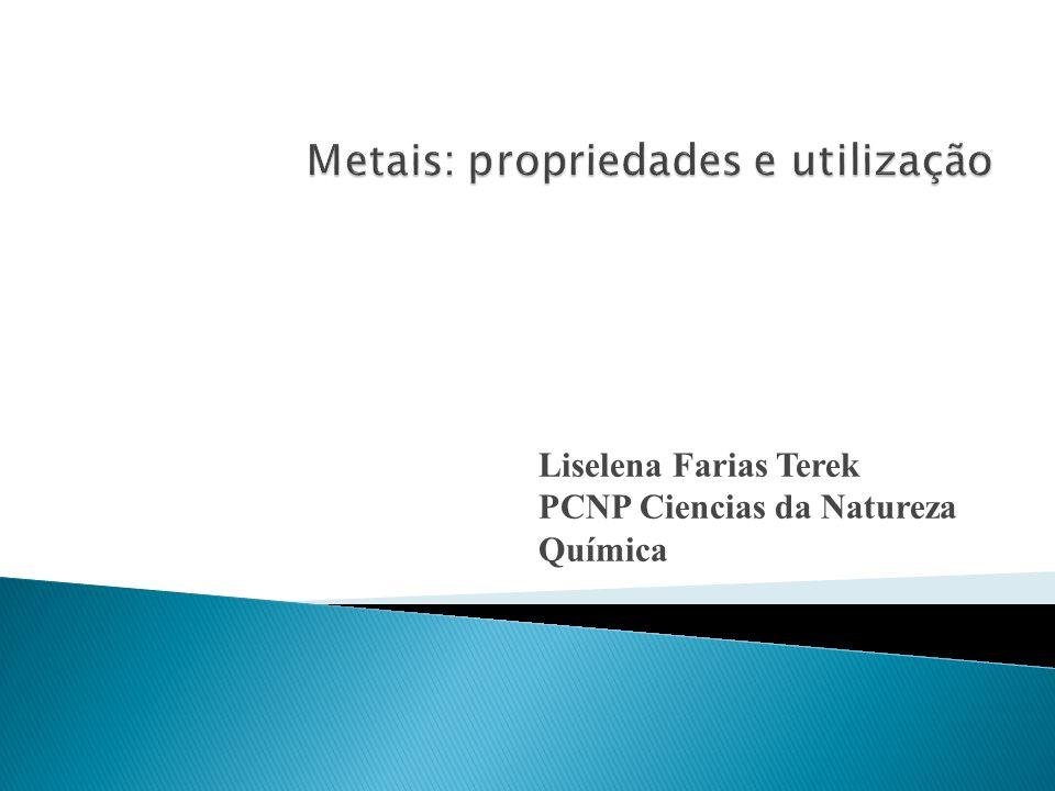 Liselena Farias Terek PCNP Ciencias da Natureza Química