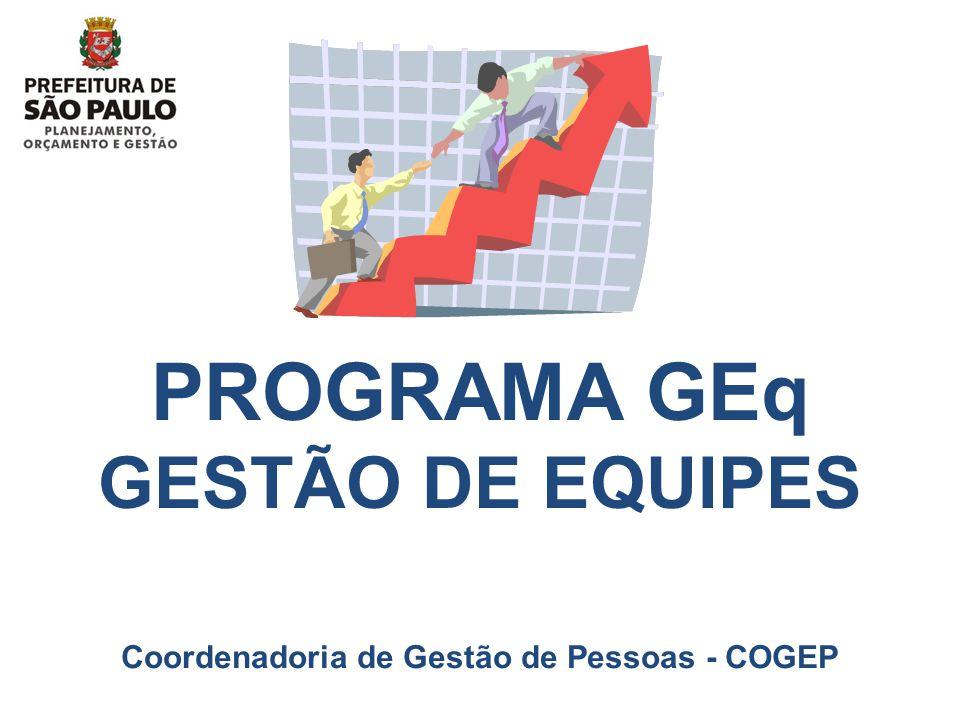 PROGRAMA GEq GESTÃO DE EQUIPES Coordenadoria de Gestão de Pessoas - COGEP