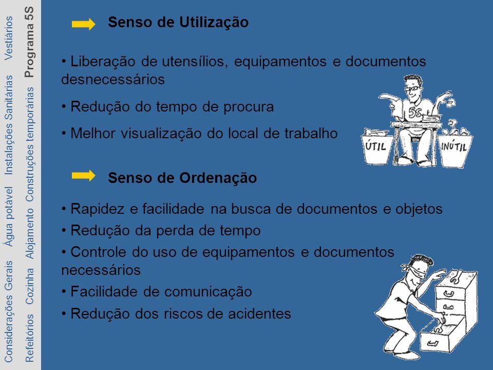 Rapidez e facilidade na busca de documentos e objetos Redução da perda de tempo Controle do uso de equipamentos e documentos necessários Facilidade de