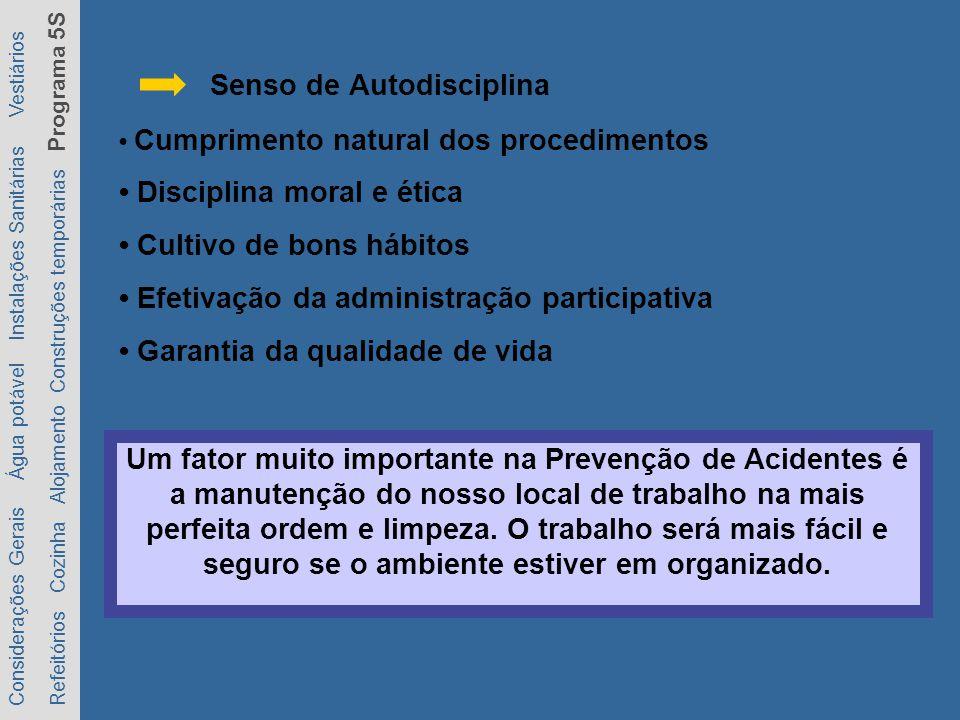 Cumprimento natural dos procedimentos Disciplina moral e ética Cultivo de bons hábitos Efetivação da administração participativa Garantia da qualidade