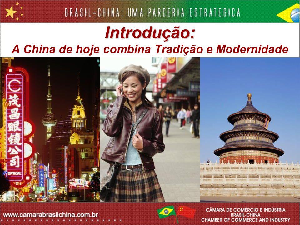 Introdução: Introdução: A China de hoje combina Tradição e Modernidade
