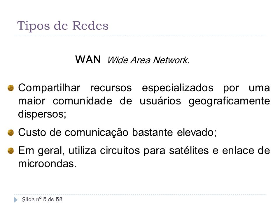 Slide nº 16 de 58 Interligando redes na Internet