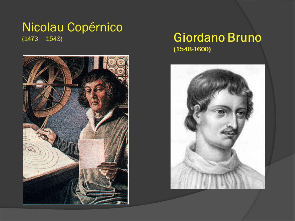 Giordano Bruno (1548-1600) Nicolau Copérnico (1473 – 1543)