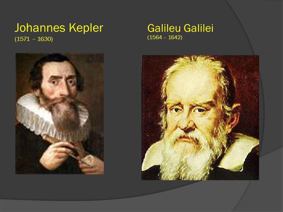 Johannes Kepler (1571 – 1630) Galileu Galilei (1564 – 1642)