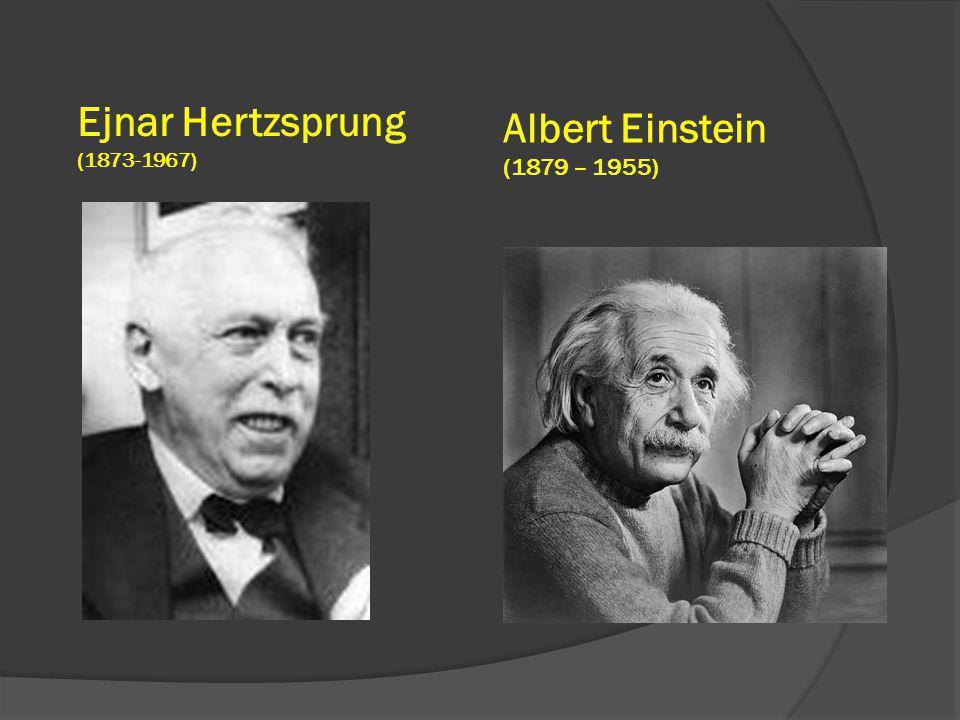 Albert Einstein (1879 – 1955) Ejnar Hertzsprung (1873-1967)