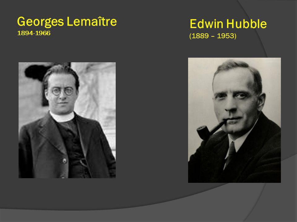 Georges Lemaître 1894-1966 Edwin Hubble (1889 – 1953)