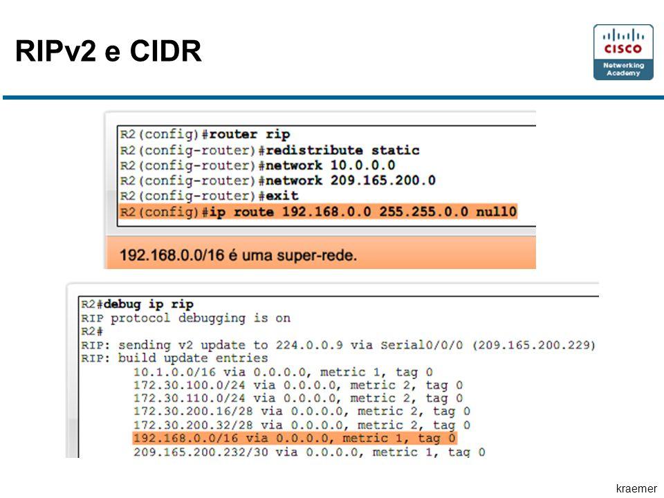 kraemer RIPv2 e CIDR