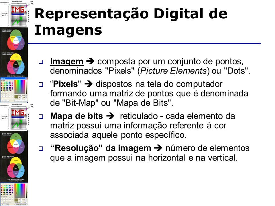 Imagem composta por um conjunto de pontos, denominados Pixels (Picture Elements) ou Dots .