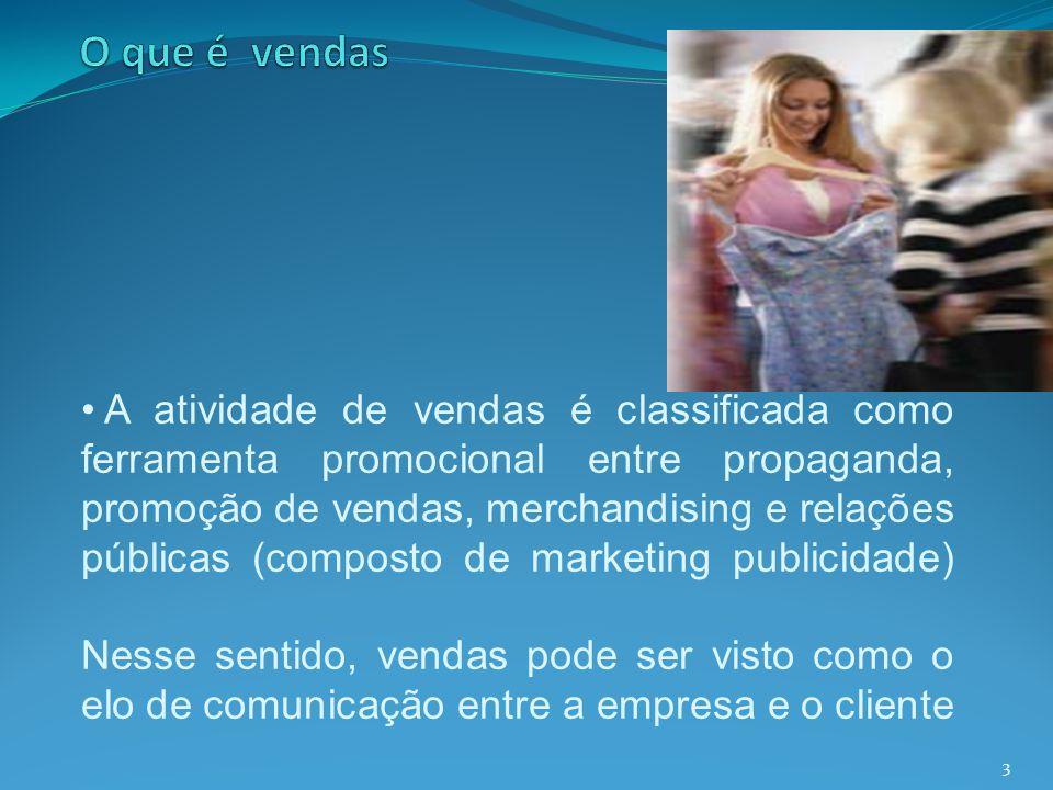 3 A atividade de vendas é classificada como ferramenta promocional entre propaganda, promoção de vendas, merchandising e relações públicas (composto d