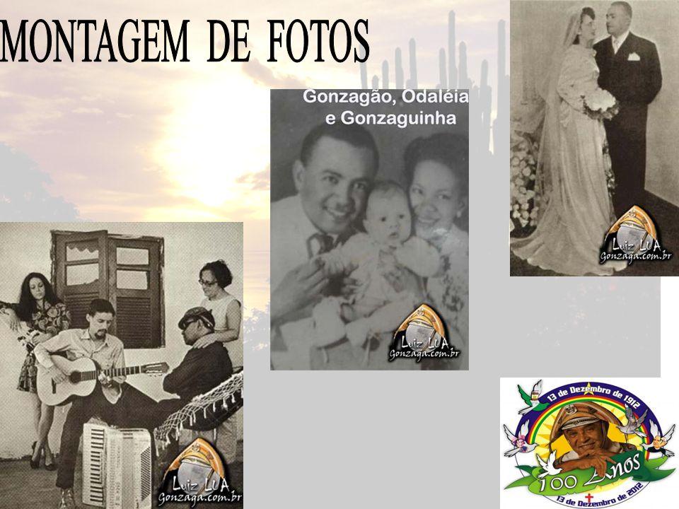 Nome completo Luis Gonzaga do Nascimento Data de nascimento 13/12/1912 Local onde nasceu Cidade de Exu, Pernambuco Filiação Januário José dos Santos e Ana Batista de Jesus Santana Músicas mais conhecidas Asa Branca e Xote das meninas Curiosidades Luiz Gonzaga foi consagrado o Rei do Baião, em 1941.