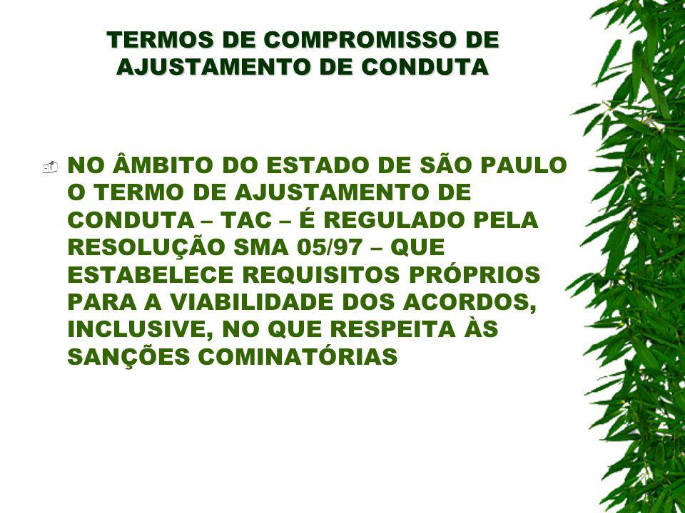 TERMOS DE COMPROMISSO DE AJUSTAMENTO DE CONDUTA NO ÂMBITO DO ESTADO DE SÃO PAULO O TERMO DE AJUSTAMENTO DE CONDUTA – TAC – É REGULADO PELA RESOLUÇÃO S
