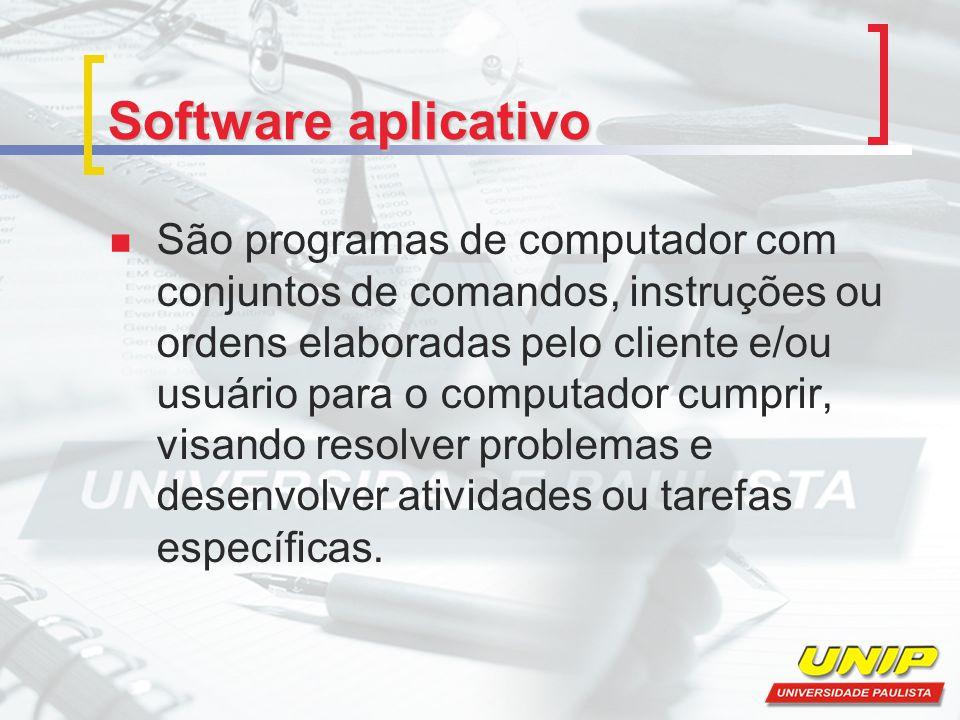 Software de automação de escritórios ou office Os softwares utilitários têm como função principal a complementação dos softwares de automação de escritórios e dos aplicativos.