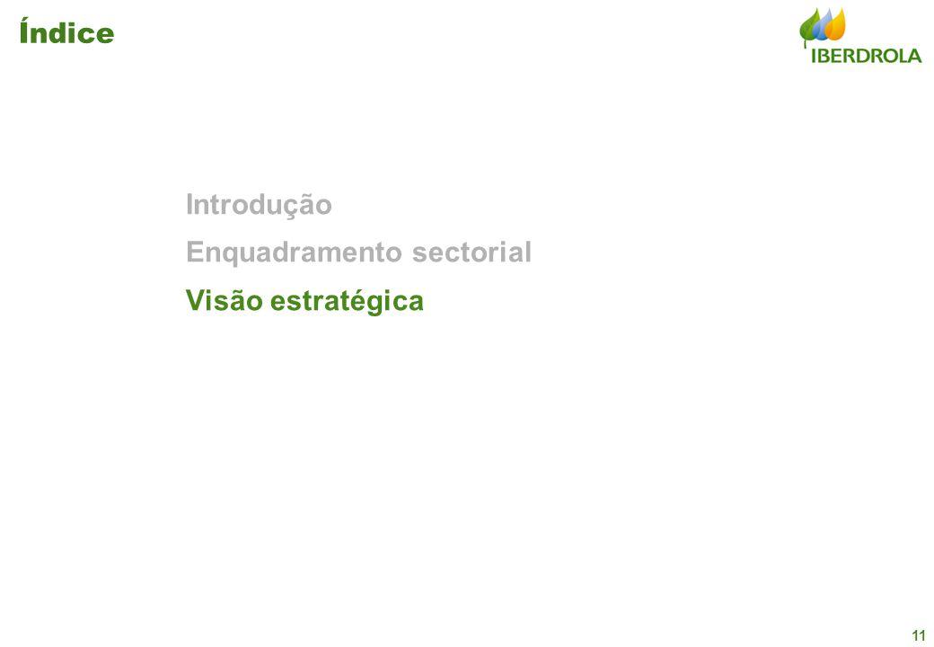 11 Índice Introdução Enquadramento sectorial Visão estratégica