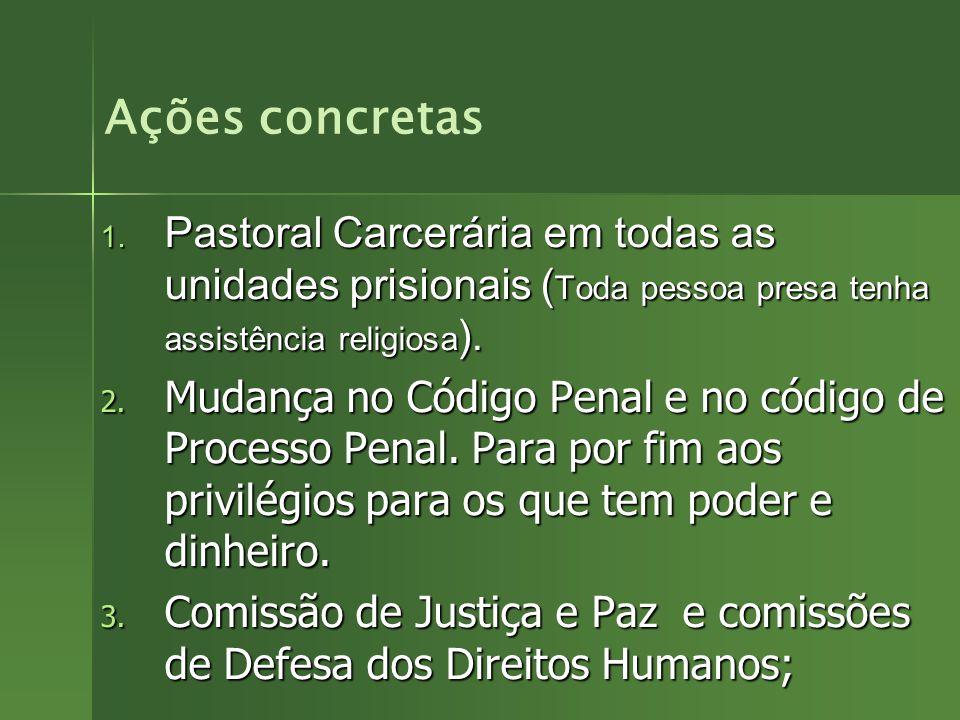Caso de formação de grupos da Pastoral Carcerária, incluir os slides abaixo após o slide 114. Caso de formação de grupos da Pastoral Carcerária, inclu