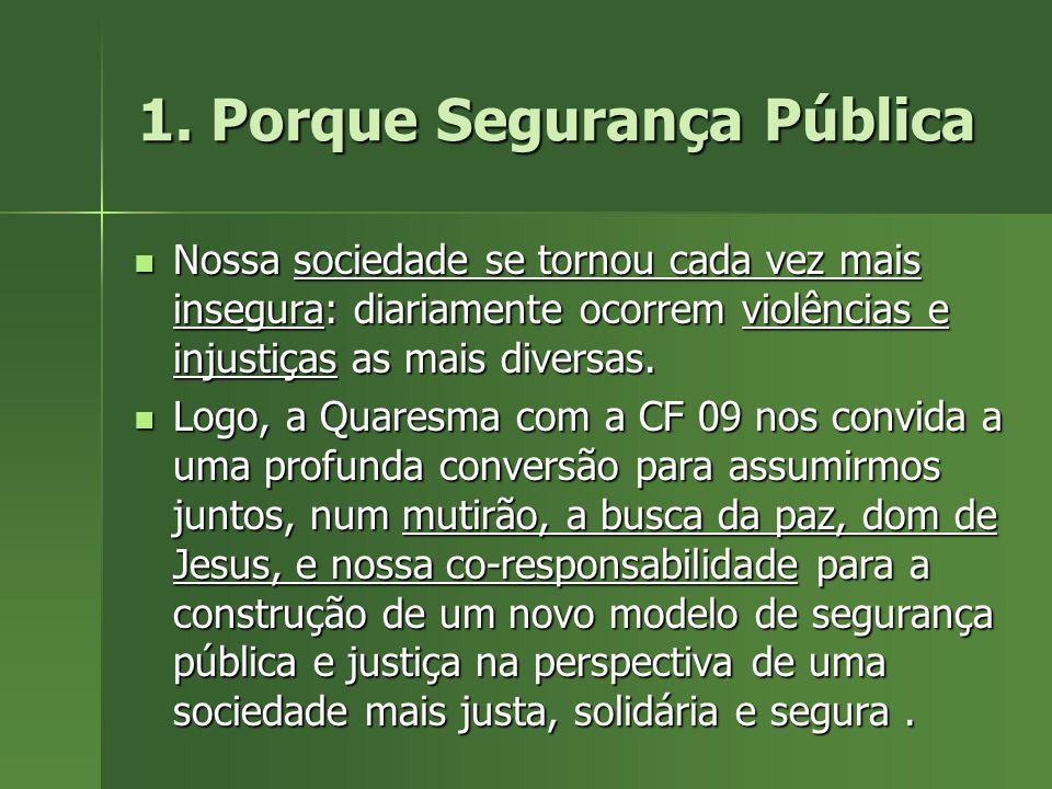 Jesus Cristo e a construção da segurança pública: a Eucaristia – missa/missão – para a transformação social A paz é fruto da Justiça (Is 32,17).