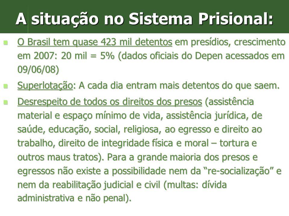 4. Repressão e prisões resolvem? Triplicamos nos últimos 15 anos o número dos presos para voltarão das prisões nos próximos anos - profissionalizados