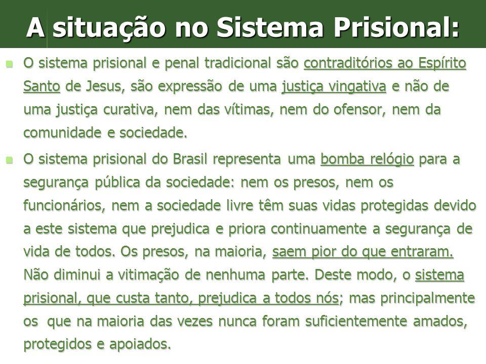 A situação no Sistema Prisional: O Brasil tem quase 423 mil detentos em presídios, crescimento em 2007: 20 mil = 5% (dados oficiais do Depen acessados