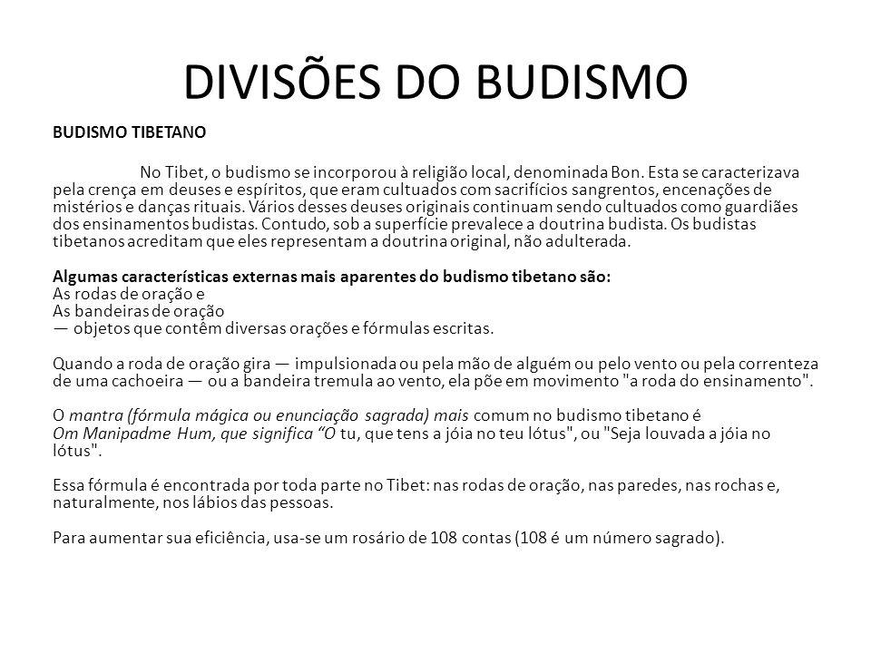 REAVIVAMENTO BUDISTA Em épocas recentes, e em especial desde a última guerra mundial, o budismo passou por um reavivamento, sobretudo entre os budistas com mais treino filosófico.
