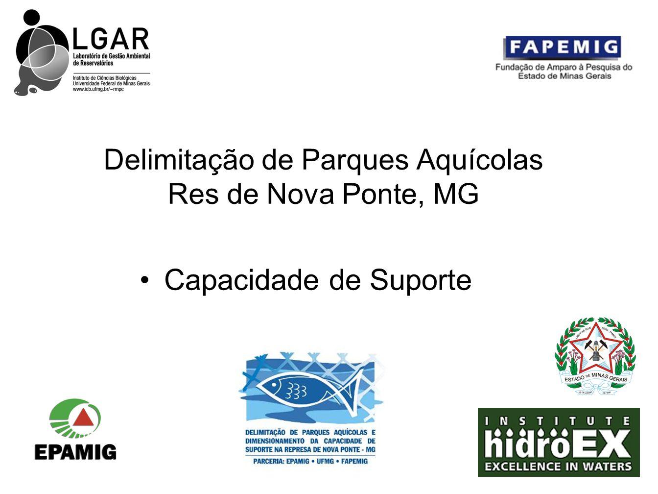 Delimitação de Parques Aquícolas Res de Nova Ponte, MG Capacidade de Suporte