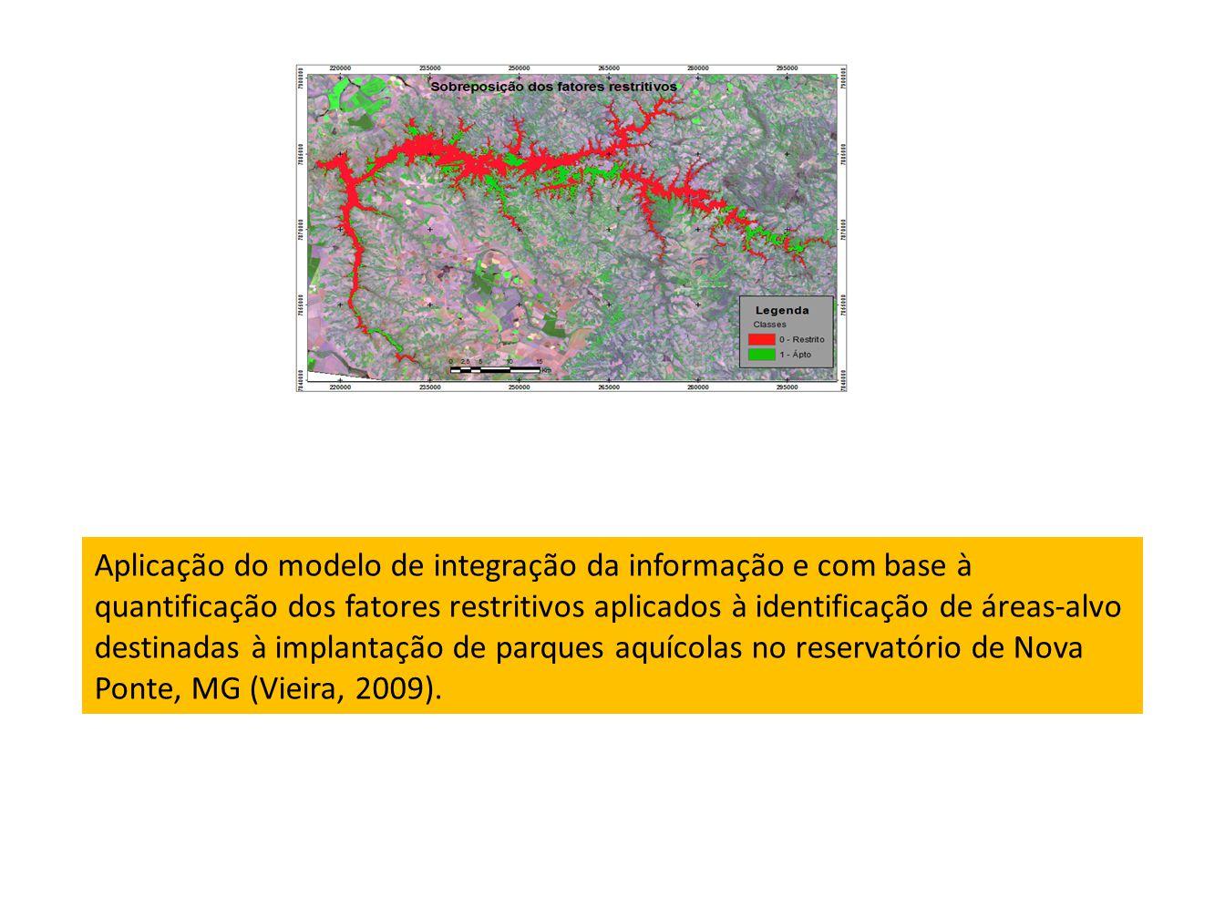 Aplicação do modelo de integração da informação e com base à quantificação dos fatores restritivos aplicados à identificação de áreas-alvo destinadas