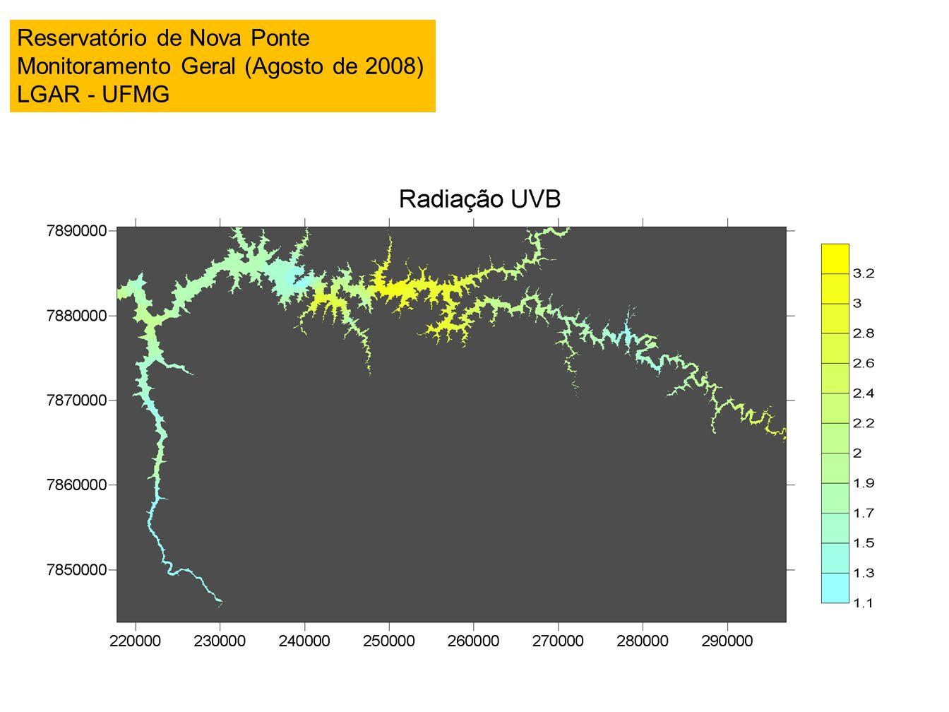 Reservatório de Nova Ponte Monitoramento Geral (Agosto de 2008) LGAR - UFMG