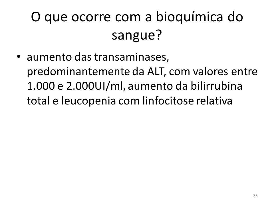O que ocorre com a bioquímica do sangue.