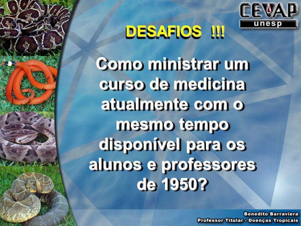 Como ministrar um curso de medicina atualmente com o mesmo tempo disponível para os alunos e professores de 1950.