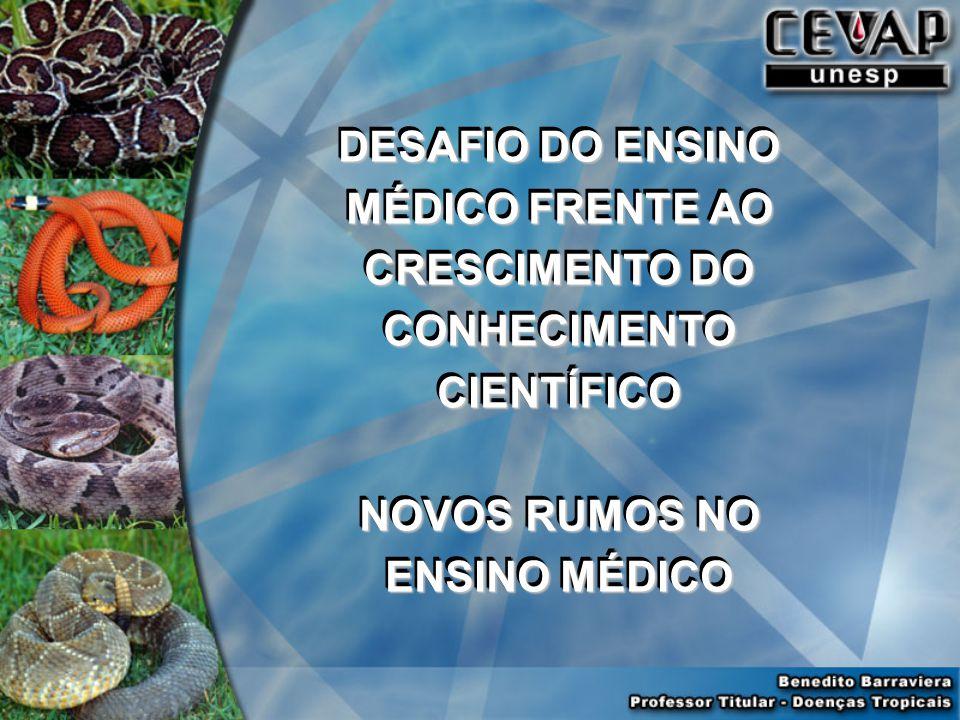 DESAFIO DO ENSINO MÉDICO FRENTE AO CRESCIMENTO DO CONHECIMENTO CIENTÍFICO NOVOS RUMOS NO ENSINO MÉDICO DESAFIO DO ENSINO MÉDICO FRENTE AO CRESCIMENTO DO CONHECIMENTO CIENTÍFICO NOVOS RUMOS NO ENSINO MÉDICO