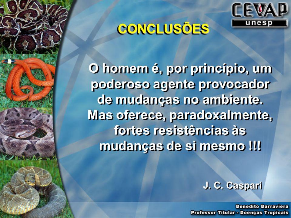 CONCLUSÕESCONCLUSÕES O homem é, por princípio, um poderoso agente provocador de mudanças no ambiente.