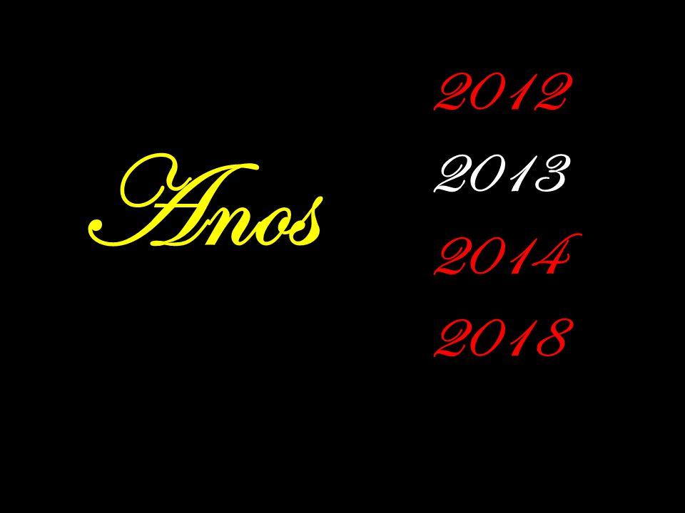 Anos 2012 2013 2014 2018