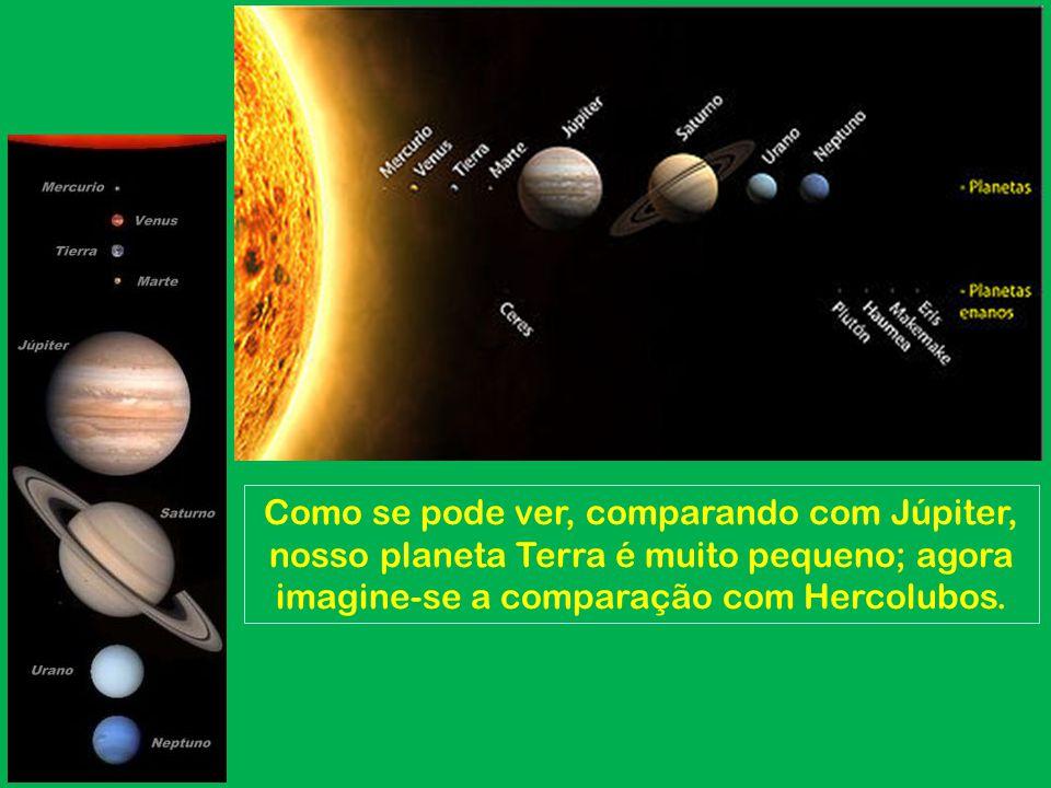 1.Ercolubus Isto ocasionará um choque magnético com a Terra já que é 5 (cinco) vezes maior que Júpiter (para termos uma idéia de seu tamanho, já que Júpiter é 318 vezes maior que a Terra, Ercolubus é 1.590 vezes maior que a Terra).