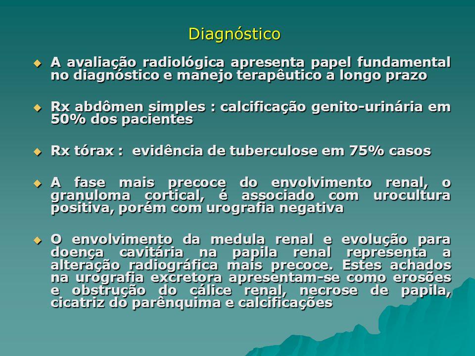 A avaliação radiológica apresenta papel fundamental no diagnóstico e manejo terapêutico a longo prazo A avaliação radiológica apresenta papel fundamen