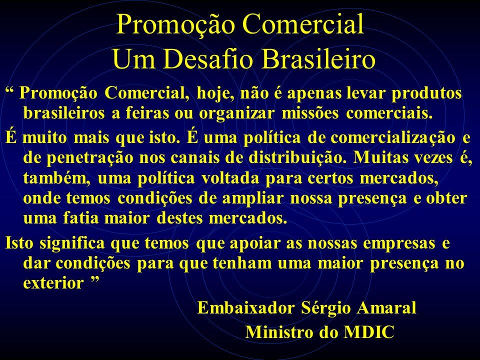 Promoção Comercial Um Desafio Brasileiro Promoção Comercial, hoje, não é apenas levar produtos brasileiros a feiras ou organizar missões comerciais. É