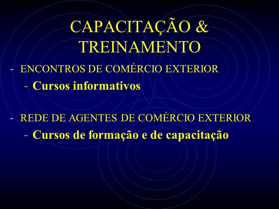 CAPACITAÇÃO & TREINAMENTO - ENCONTROS DE COMÉRCIO EXTERIOR - Cursos informativos - REDE DE AGENTES DE COMÉRCIO EXTERIOR - Cursos de formação e de capa