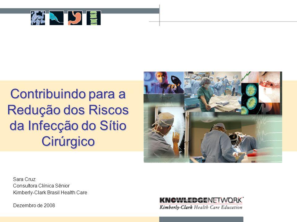 1 Contribuindo para a Redução dos Riscos da Infecção do Sítio Cirúrgico Sara Cruz Consultora Clínica Sênior Kimberly-Clark Brasil Health Care Dezembro