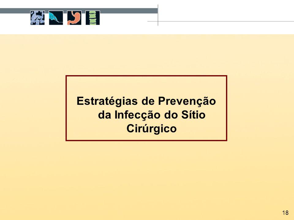 18 Estratégias de Prevenção da Infecção do Sítio Cirúrgico