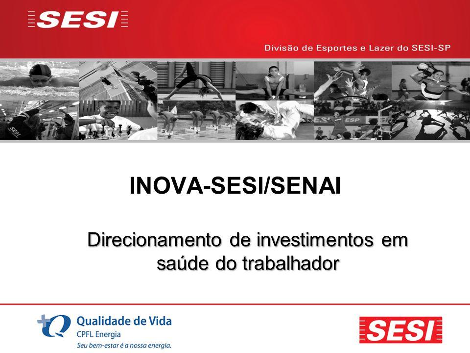 INOVA-SESI/SENAI Direcionamento de investimentos em saúde do trabalhador