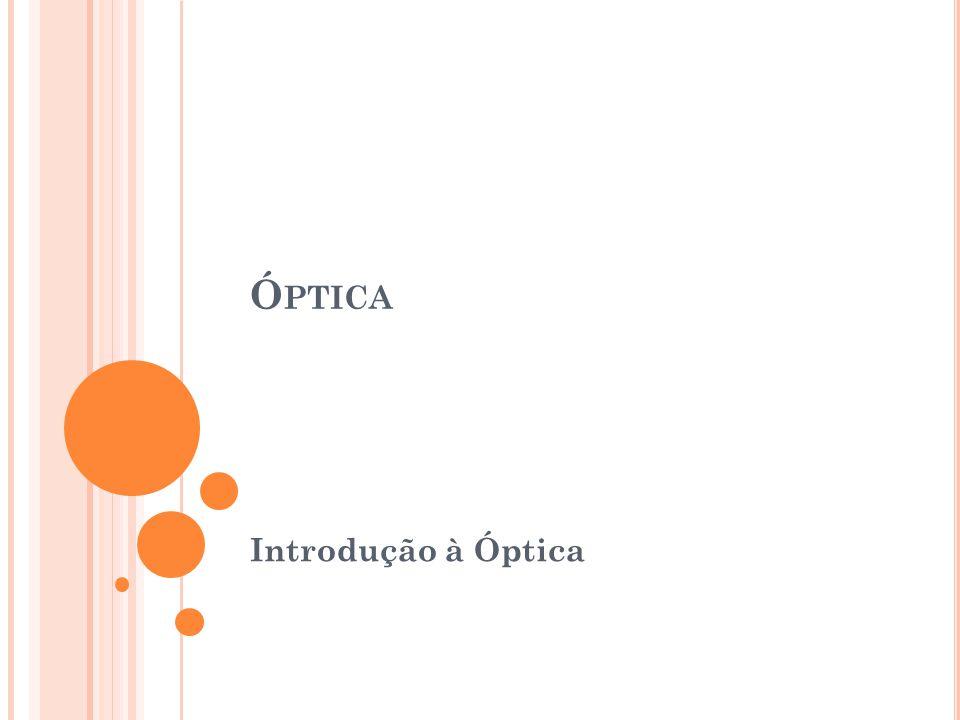 Ó PTICA Introdução à Óptica
