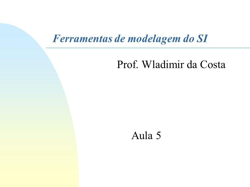 Ferramentas de modelagem do SI Prof. Wladimir da Costa Aula 5