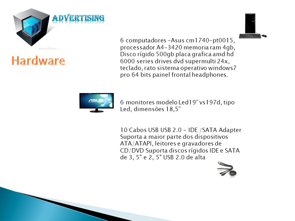 impressora de grandes dimenssões Plotter HP Designjet L25500 - Tinta Latex Impressora oki Laser a cores C310DN Área recursos humanos e Área a administrativa.